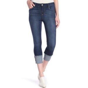 1822 Taylor Crop Skinny Rolled Hem Raw Edge Jean